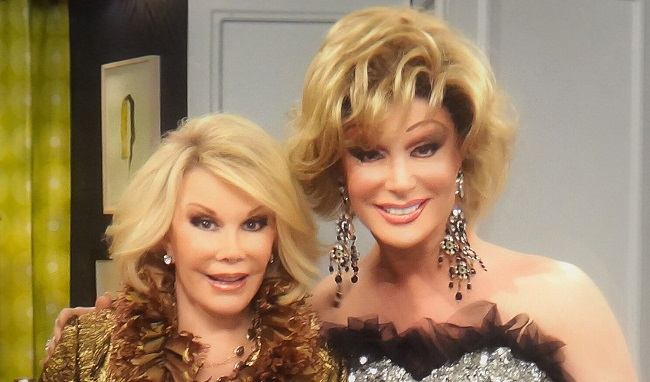 Frank Marino and Joan Rivers