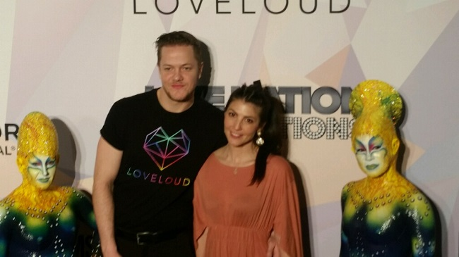 Imagine Dragon frontman Dan Reynolds, his wife Aja, and two performers from KA at the MGM Grand