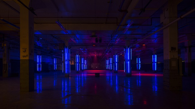 "Museum Giasco opens in AREA15 in Las Vegas with its debut exhibition, V;uster,"" a light and sound show."